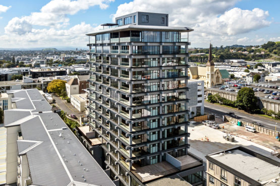 Overview of SKHY apartments building